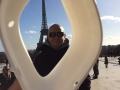 Jakub Papaj - in front of the Eiffel tower in Paris - France - stone 4347