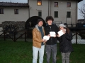 Tarondo family - in front of an old mill that is restored to produce electricity -   Tavagnacco Udine - Italy - stones 5856, 5857 & 5858